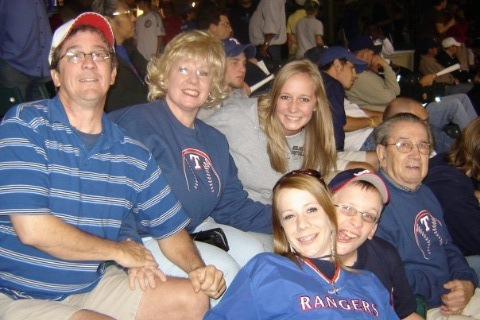 Family photo at rangers